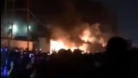 Provakatörler Necef'te, İran Başkonsoluğunu Ateşe Verdi