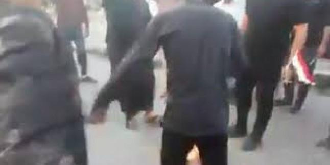 Kerbela'daki gösterilerde büyük şeytan ABD ve Siyonist israil bayrakları ateşe verildi