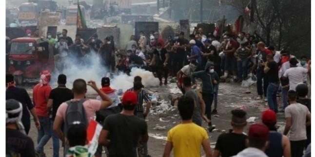 Kerbela'da 2 Parti binası kundaklandı