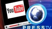 Siyonist Youtube'dan İran'ın Presstv kanalına ırkçı İsrail karşıtı tutumundan dolayı tepki