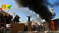 ABD'nin Bağdat Büyükelçiliği önünde protesto eylemi sürüyor