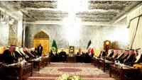 Suriyeli aşiret liderleri, mukaddes Meşhed kentinde