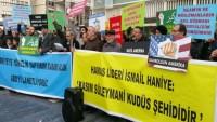 Hollanda'da Şehitleri Anma ve Amerika'yı Protesto Mitingi Düzenlendi