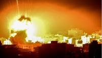 Siyonist İsrail Savaş Uçakları Gazze Direnişçilerine Ait Hedefleri Yoğun Bir Biçimde Bombaladı