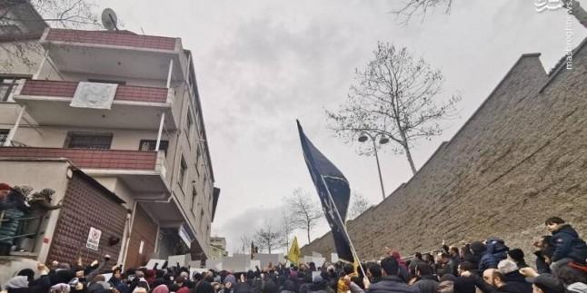 İstanbul'da ABD ve İsrail'in bayrakları ateşe verildi