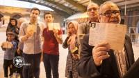 İran halkı sandıklara görkemli ve coşkulu gitti