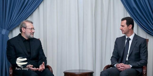 Laricani, Beşar Esad ile görüştü