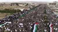 Milyonlarca Yemen Halkı Siyonist İsrail Rejimini Uyardı