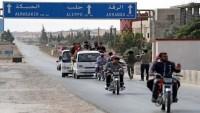 7 yıl ardan sonra Rakka -Halep yolu tekrar açıldı