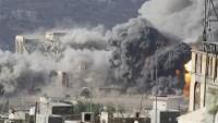 Katil Suudi savaş uçakları, Yemen'in muhtelif noktalarını bombaladı
