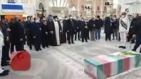 İmam Humeyni Türbesinde şehit Fahrizade'nin pak naaşı teşyi edildi