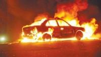 Batı Şeria'da terör estiren Yahudi yerleşimciler Filistinlilere ait araçları yaktı