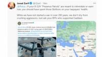 Zarif, ABD B52 bombardıman uçaklarının uçuşlarıyla ilgili uyarıda bulundu