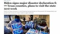 """Biden, Teksas'ta """"büyük felaket"""" ilan etti"""