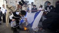 Siyonizm Karşıtı Yahudiler İşgalci İsrail Bayrağını Ateşe Verdi