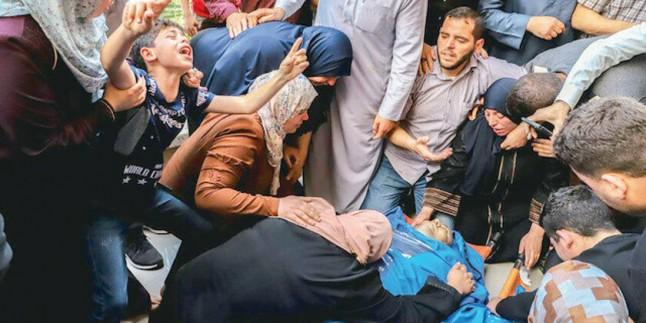 Siyonist Rejimin Gazzeye Yönelik Saldırılarında Şehid Olanların Sayısı 71'e Ulaştı