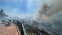 Kudüs'ün güneybatısında, Siyonistlere ait yerleşimlerde büyük yangın!