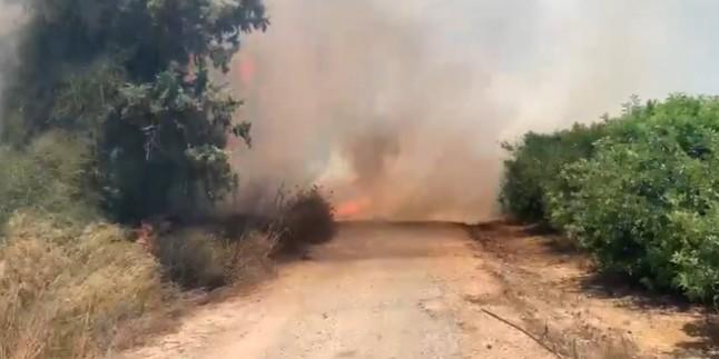 Gazze etrafındaki Siyonist yerleşkelerde 26 yangın