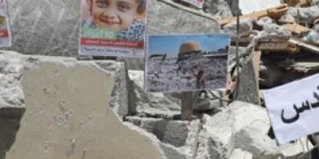 İsrail Saldırılarında Ölen Filistinli Çocukların Fotoğrafları Sergilendi