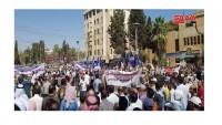 Haseke halkı Türkiye karşıtı gösteri yaptı