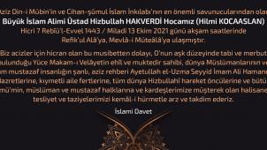 Üstad Hizbullah HAKVERDİ Hocamız ahirete irtihal etmiştir. Tüm Müslümanların ve Mustazafların başı sağolsun!