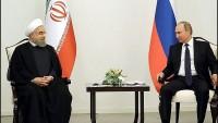 Ruhani ile Putin bir araya geldi