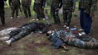 Suriye'nin batısında onlarca terörist öldü