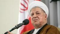 Ayetullah Rafsancani: İran Filistin meselesinde desteğini sürdürecektir
