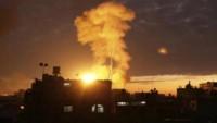 Siyonist İsrail savaş uçakları Gazze'yi bombaladılar