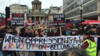 Londra'da Türkiye aleyhine gösteri