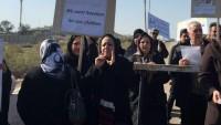 İranlılar, Irak'ta Liberti kampı önünde eylemde bulundu