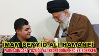 Dünya Mustazaflarının Rehberi, Parmağındaki Yüzüğü Şehid Mustafa Bedreddin'in Oğluna Hediye Etti