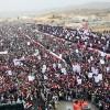 Yemen halkı, Siyonist Suud Rejimine karşı büyük gösteri düzenledi
