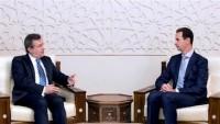 Yunanistan heyeti, Esad ile görüştü