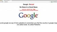 Google, Filistin Adını Çıkardı