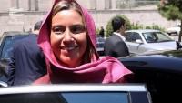 Avrupa Birliği dış siyaset sorumlusu Mogherini Tahran'da