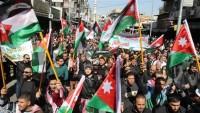 Ürdünlü göstericilerden Siyonist rejim ile ilişkilerin kesilmesine vurgu