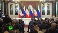 İran ve Rusya cumhurbaşkanları ortak bildiride stratejik işbirliğini vurguladılar