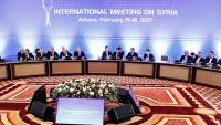 İran, Türkiye ve Rusya heyetleri, Astana'da biraraya geldiler