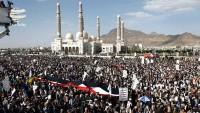 Yemen halkı Sana'da gösteri düzenledi