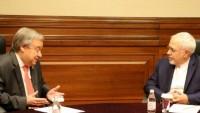 Zarif, BM Genel Sekreteri ile görüştü