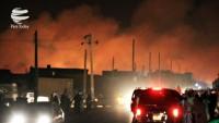 Siyonist rejim fabrikasında patlama ve yangın