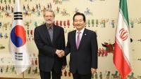 İran Meclis Başkanı ile Güney Kore Başbakanı görüştü