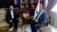 İran elçisi Suriye tarım bakanı ile görüştü