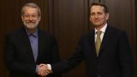 Rusya Dış İstihbarat Servisi Başkanı, İran Meclis Başkanı Laricani ile görüştü