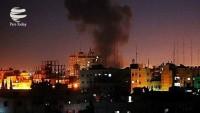 İşgalrejimi İsrail savaş uçakları Gazze'yi bombaladı