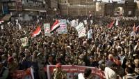 Kahraman Yemen Halkı, Başkent Sana'da Sokaklara İndi!