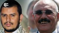 Yemen Ensarullah hareketi genel sekreteri ve Ali Abdullah Salih arasında görüşme