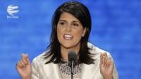 ABD'nin BM daimi temsilcisi Nikki Haley, cumhuriyetçi senatörlerin İran karşıtlığından memnun