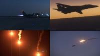 İran askeri tatbikatında savaş uçaklarından gece bombardımanı